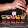 cocktail making layering shots