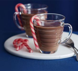 christmas hot chocolate mocktail