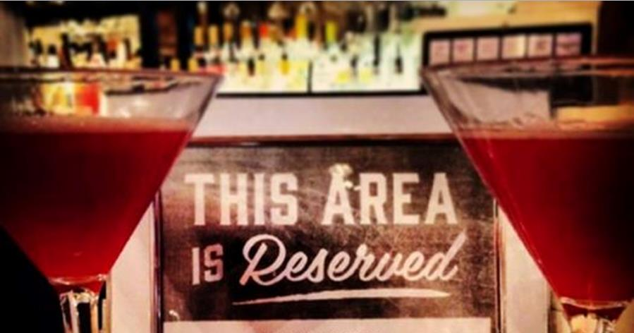 Area Reserved for cocktail making class
